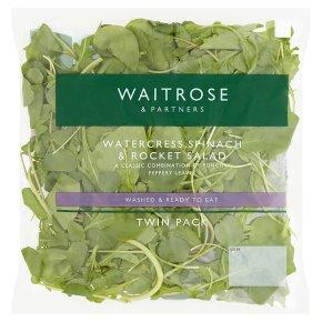 Waitrose watercress, rocket & spinach salad twinpack