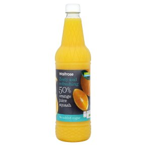 Waitrose no added sugar high juice 50% fruit orange squash