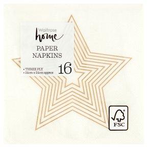 Waitrose Home Celebration Napkin 24cm x 24cm