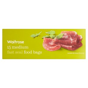 Waitrose Medium Fast Seal Food Bags