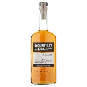 Mount Gay Barbados rum black barrel