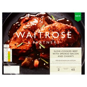 Waitrose Slow Cooked, Beef with Bacon & Chianti