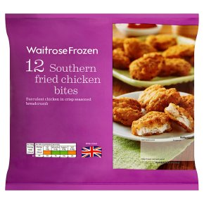 Waitrose Frozen 12 southern fried chicken bites