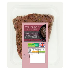 Waitrose British Beef Topside Oak Smoked Peppered