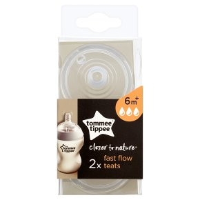Tommee Tippee Closer to Nature Teats (2 per pack)