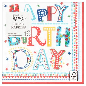 Waitrose Home Birthday Napkin 33cm x 33cm