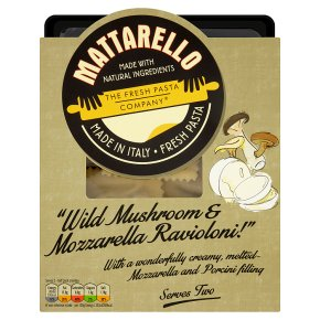 Mattarello wild mushroom & mozzarella ravioloni