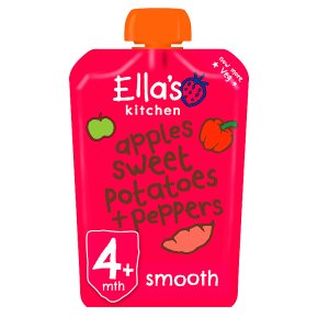 Ella's Kitchen Organic red peppers sweet potatoes and apples - stage 1 baby food