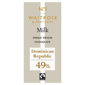 Waitrose 1 milk chocolate, 49% cocoa
