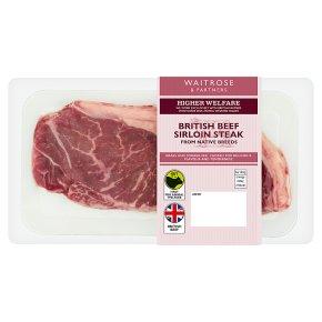 Waitrose Aberdeen Angus beef sirloin steak