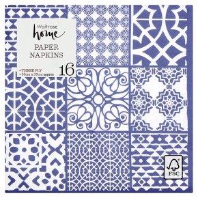 Waitrose Home Tile Napkins 33x33cm