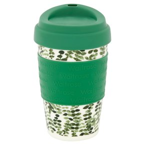 Waitrose Green Leaves Coffee Cup