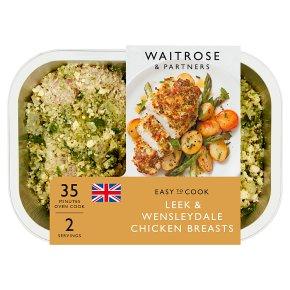 Waitrose Easy To Cook leek & wensleydale chicken breasts