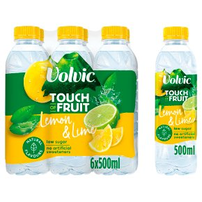 Volvic touch of lemon & lime flavour
