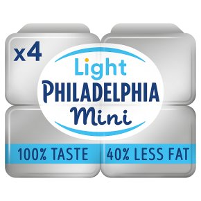 Philadelphia Light soft white cheese Mini Tubs