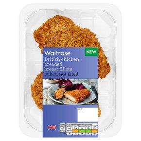Waitrose Baked Breaded Chicken Breast Fillets