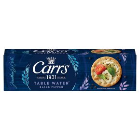 Carr's Table Water Biscuits with black pepper