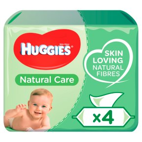 Huggies Natural Care Baby Wipes, Quad Pack 4x64's