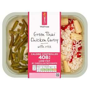 Waitrose LoveLife Calorie Controlled green Thai chicken curry
