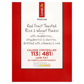 Waitrose LoveLife Calorie Controlled red fruit toasted rice & wheat flakes