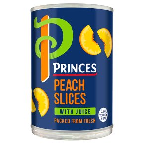 Princes peach slices with juice