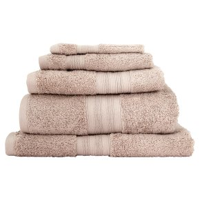 Waitrose Egyptian cotton bath towel flint