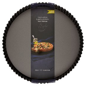 from Waitrose 30cm (12) non-stick loose base fluted quiche tin