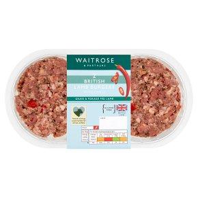 Waitrose 2 Lamb Burgers With Chilli
