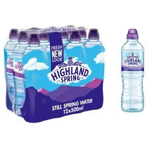 Highland Spring, still spring water, sports pack, 12 pack