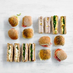 Finger Sandwiches & Mini Rolls Platter, 20 pieces