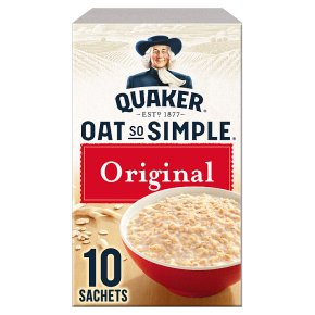 Quaker Oat So Simple original porridge cereal sachets