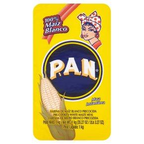 Pan harina de maiz blanco precocida