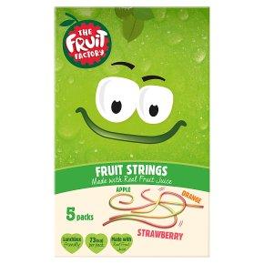 The Fruit Factory strawberry, apple & orange strings