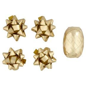 Waitrose gold tube ribbon & bows pack