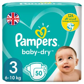 Pampers Baby Dry 3 Essential 50 Nappies