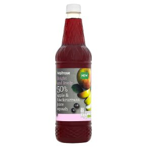 Waitrose Apple & Blackcurrant Juice Squash