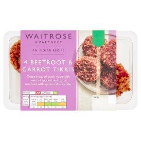 Waitrose Beetroot & Carrot Tikkis