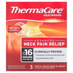 Thermacare heatwraps neck, shoulder & wrist