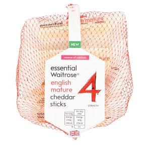 essential Waitrose English Mature Cheddar Sticks
