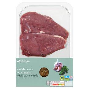 Waitrose Welsh Lamb Leg Steaks With Salsa