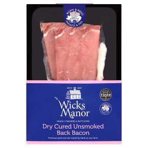 Wicks Manor Dry Cured Unsmoked Back Bacon