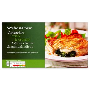 Waitrose Frozen 2 goats cheese & spinach slices