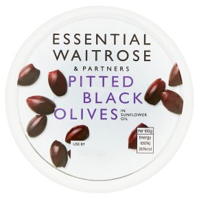 Essential Pitted Black Olives