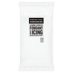 Waitrose Cooks' Homebaking white fondant icing