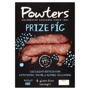 Powters 6 gluten-free sausages