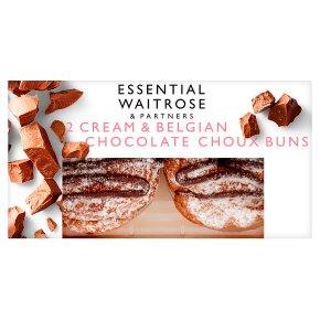 Essential Cream & Belgian Chocolate Choux Buns