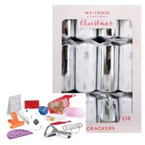 Waitrose Silver Tree Crackers