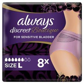 Always Discreet Boutique Pants 6+ L