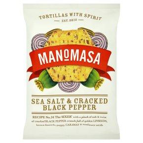 Manomasa tortillas sea salt & cracked black pepper