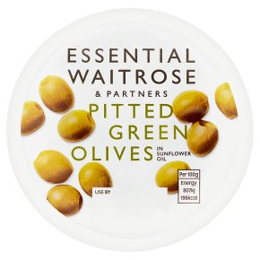 essential Waitrose pitted green olives